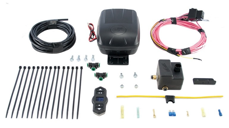 Dual On-Board Air Compressor System remote controlled