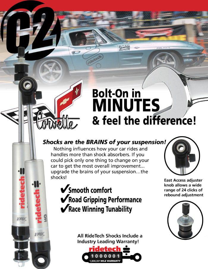 Corvette C2+C3+C4 RideTech Shock System - Brabant Custom