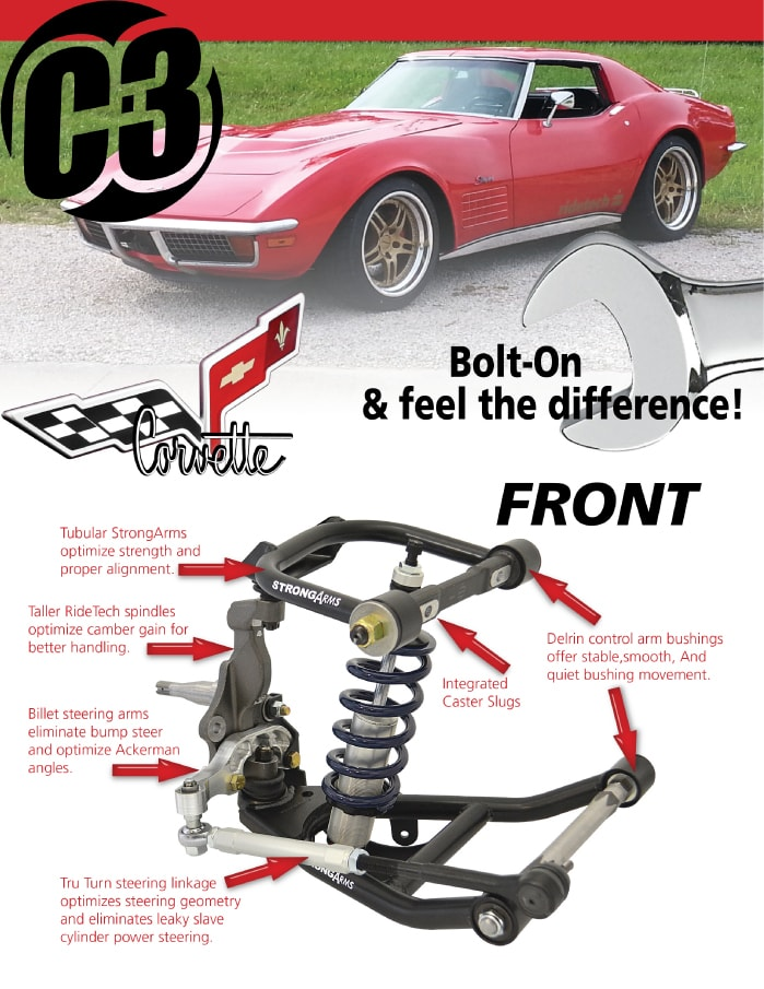 Chevrolet Corvette C2+C3 RideTech coil-over systeem - Brabant Custom ...
